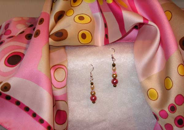 Scarf & Earrings